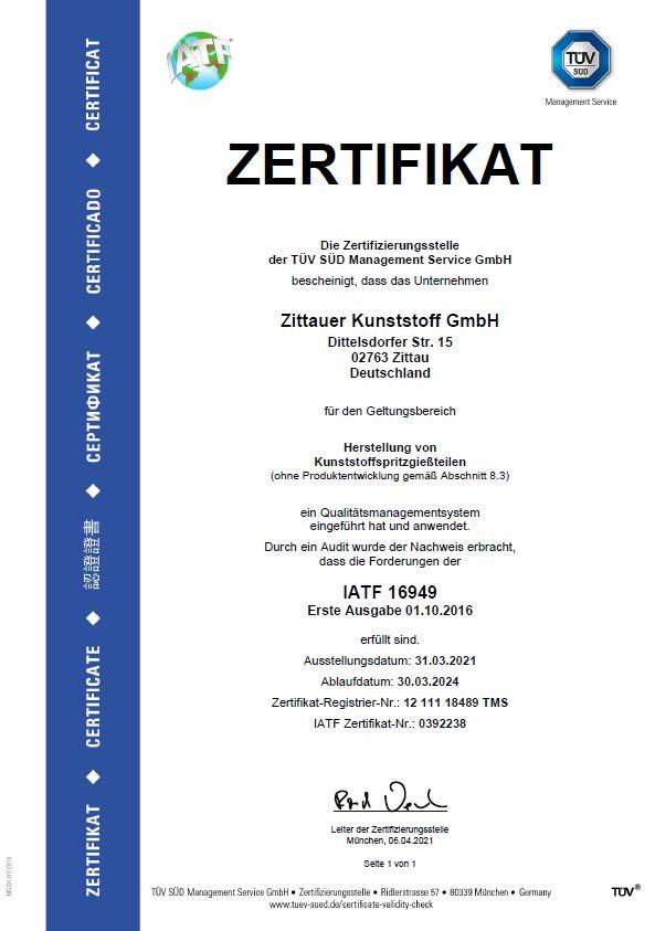 Quality - Zittauer Kunststoff GmbH